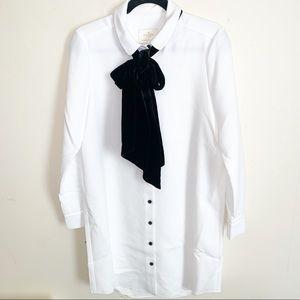 NWT Kate Spade Velvet Tie Griffin Dress